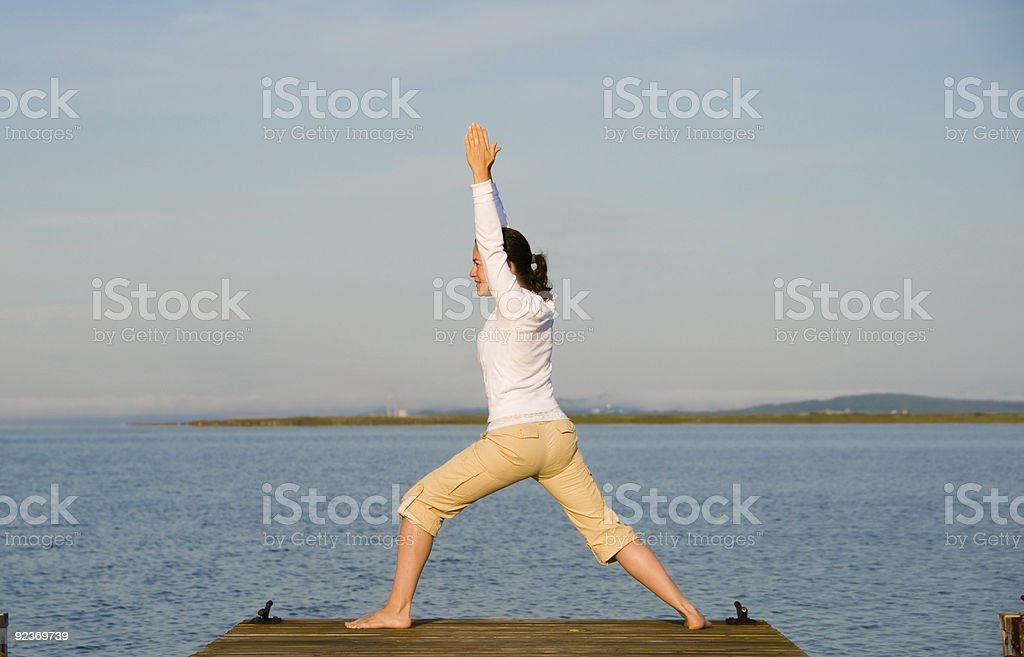 Yoga Woman Lizenzfreies stock-foto