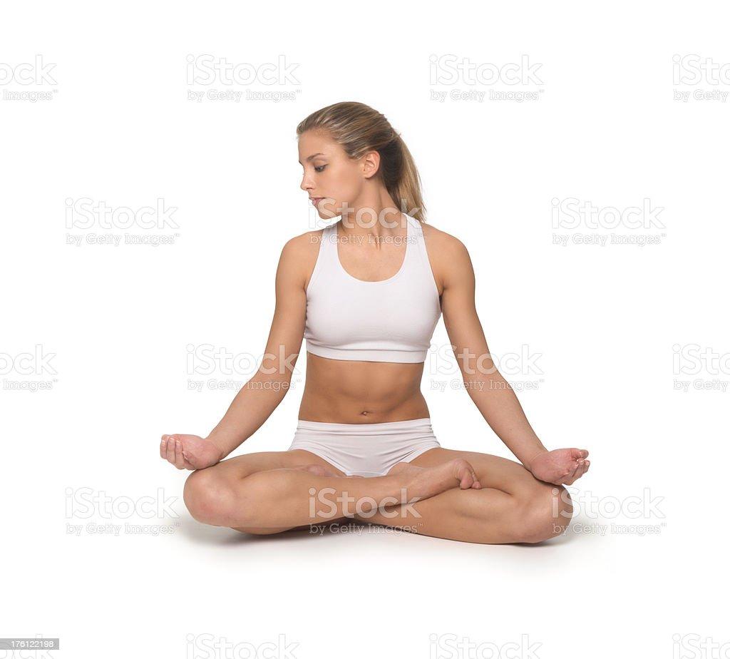yoga.Lotus Position stock photo