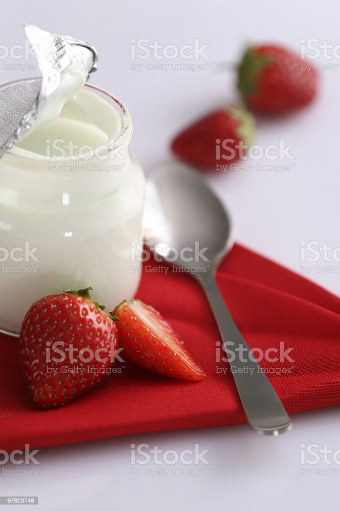 Yoghurt & fruit royalty-free stock photo