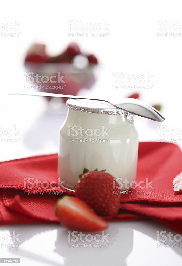 Yoghurt & fruits royalty-free stock photo