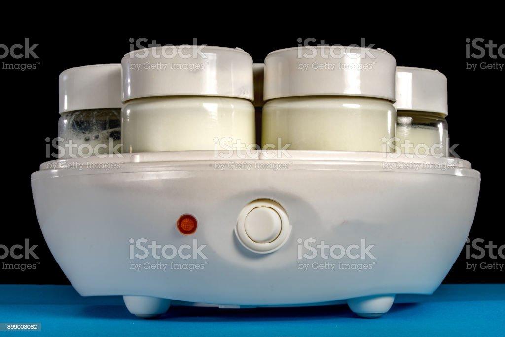 Yoghurt making machine stock photo