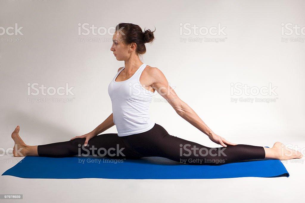yogi girl doing the splits royalty-free stock photo