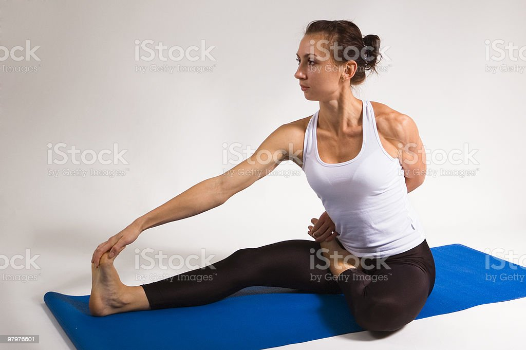 yogi girl royalty-free stock photo