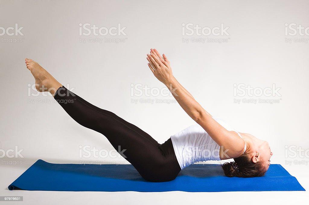 yogi girl royalty-free stock photo
