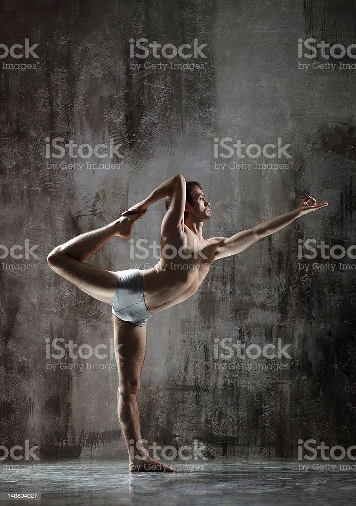 Yogic exercise royalty-free stock photo