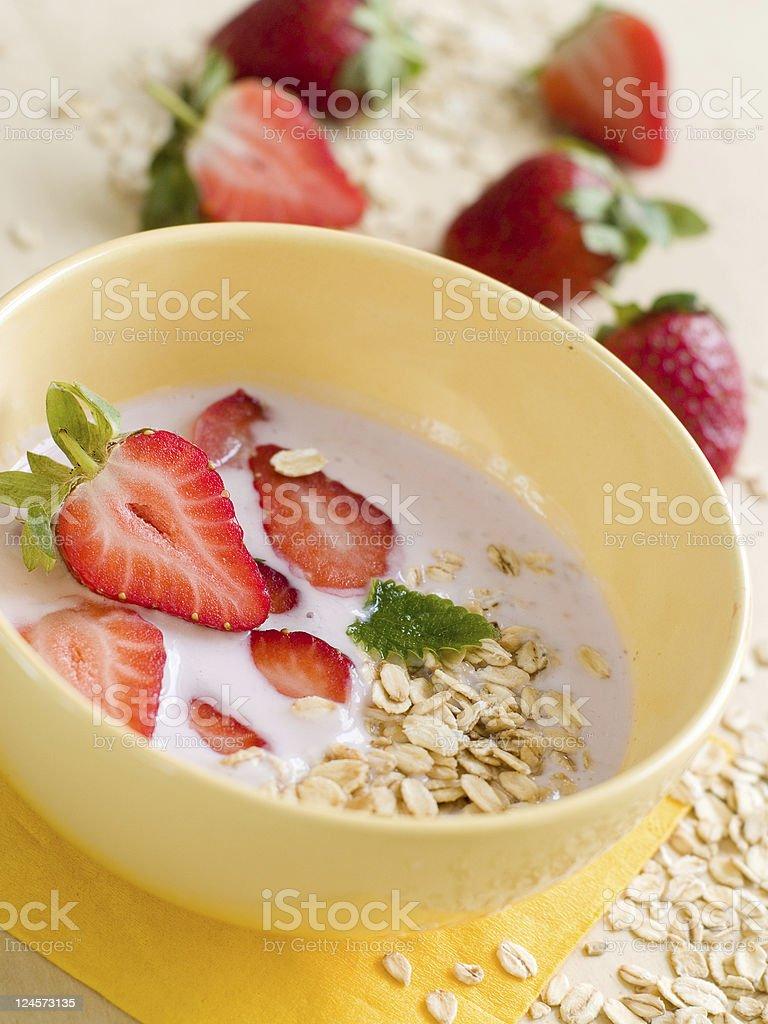 Yogurt breakfast royalty-free stock photo