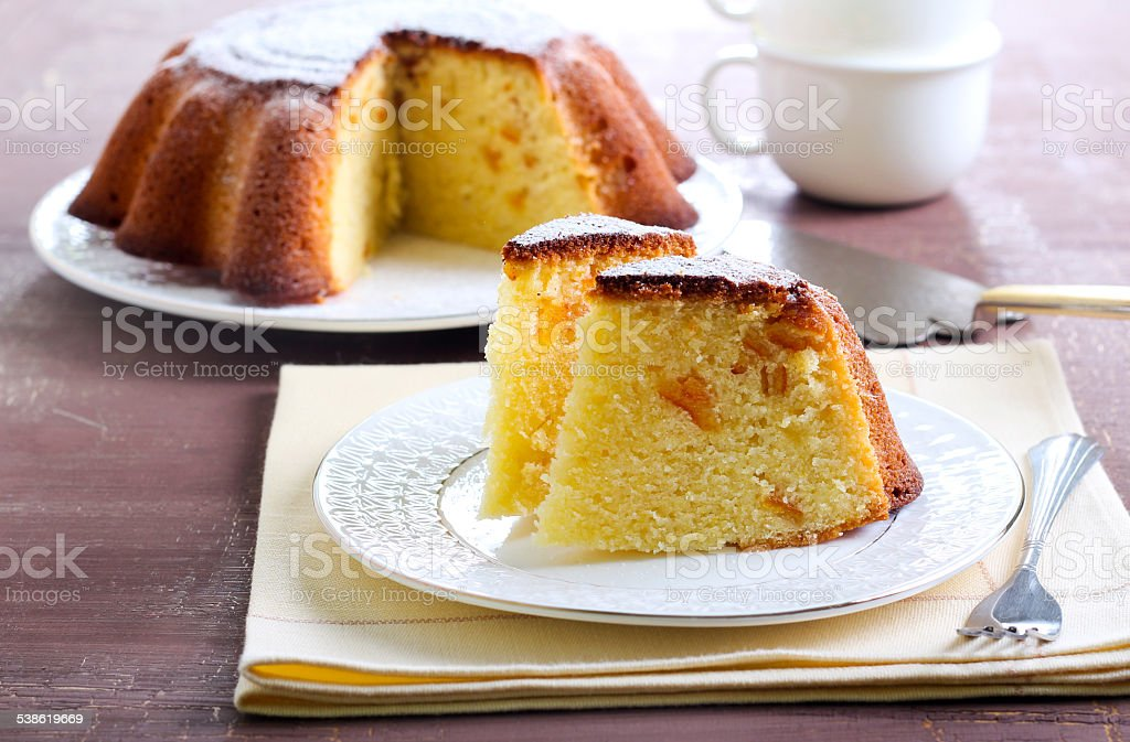 Yogurt citrus cake stock photo