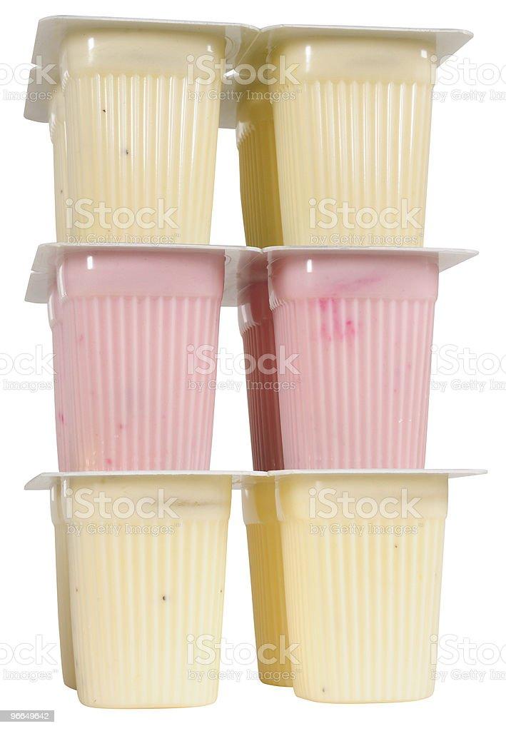 Yogurt pack. stock photo
