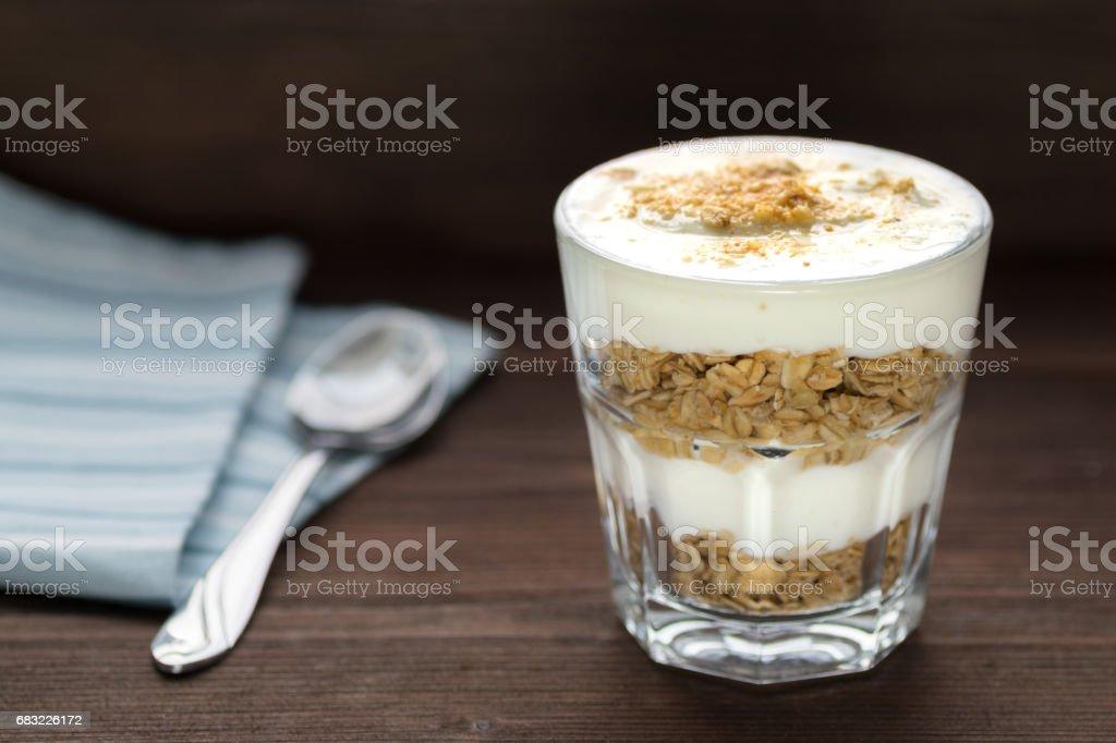 Yogurt parfait Lizenzfreies stock-foto