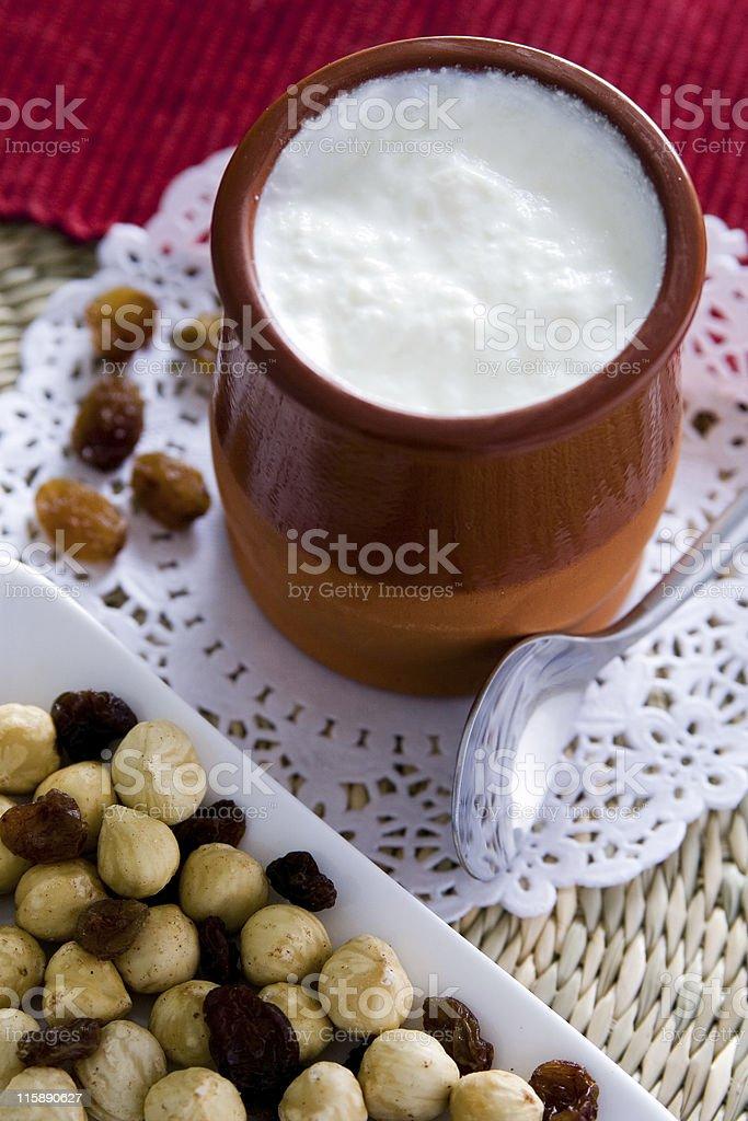 Yogurt with berries. stock photo