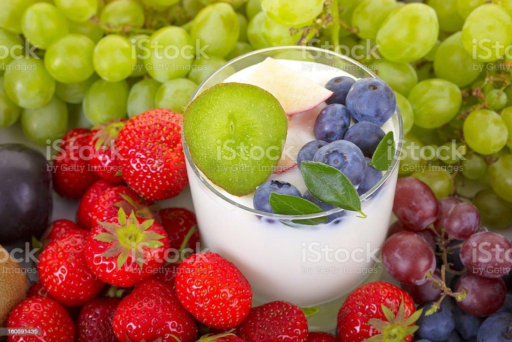 Yogurt with fruit royalty-free stock photo