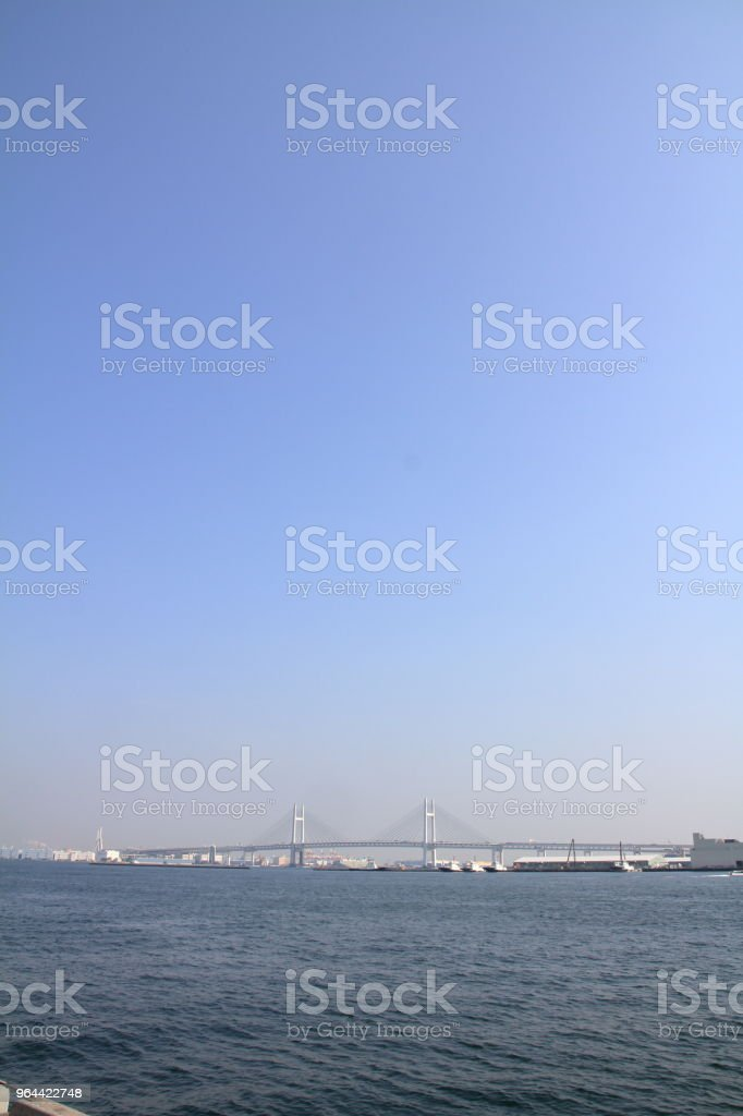 Yokohama bay bridge in Kanagawa, Japan - Royalty-free Autosnelweg Stockfoto