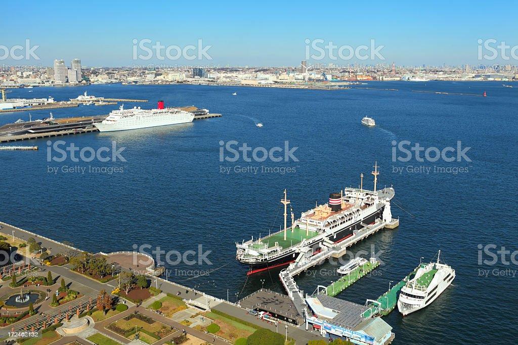 Yokohama bay royalty-free stock photo