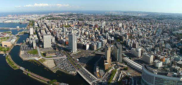jokohama z widokiem na panoramę miasta  - prefektura kanagawa zdjęcia i obrazy z banku zdjęć