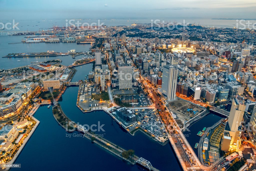 Yokohama cityscape stock photo