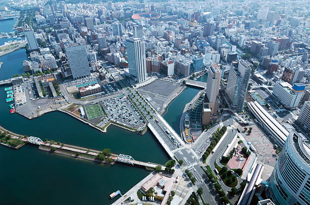 Yokohama Day View of Minato Mirai, Kannai, Motomachi