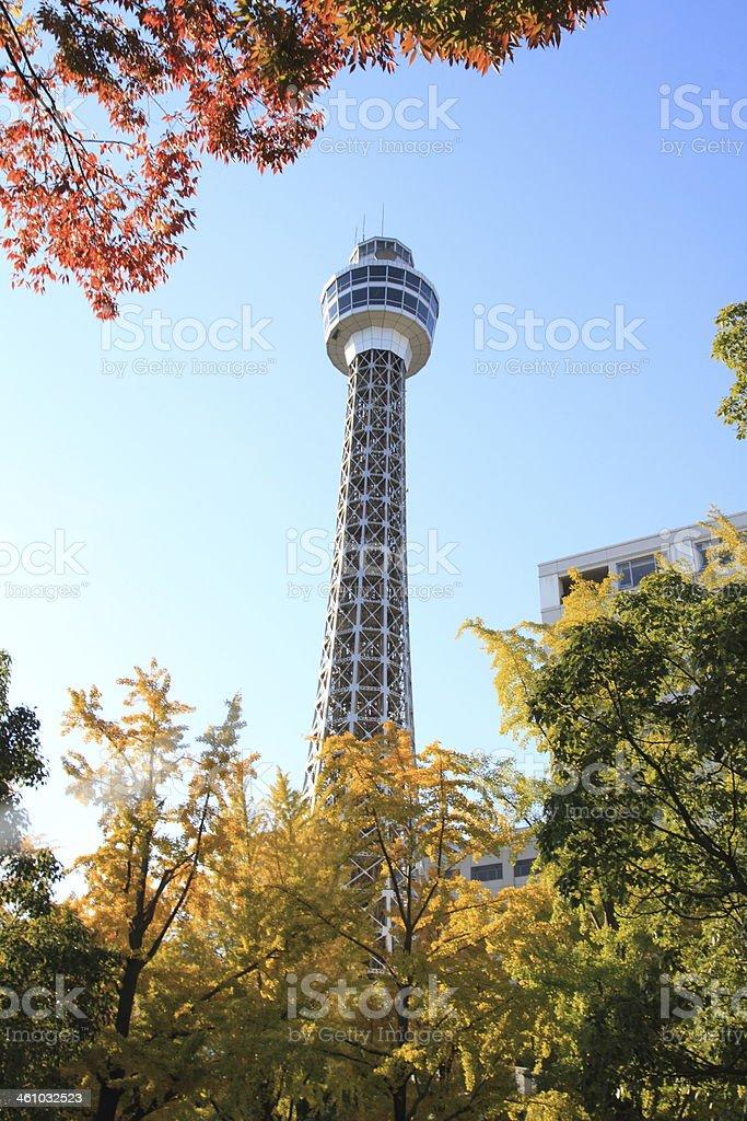 横浜マリンタワー - 世界的な名所のロイヤリティフリーストックフォト