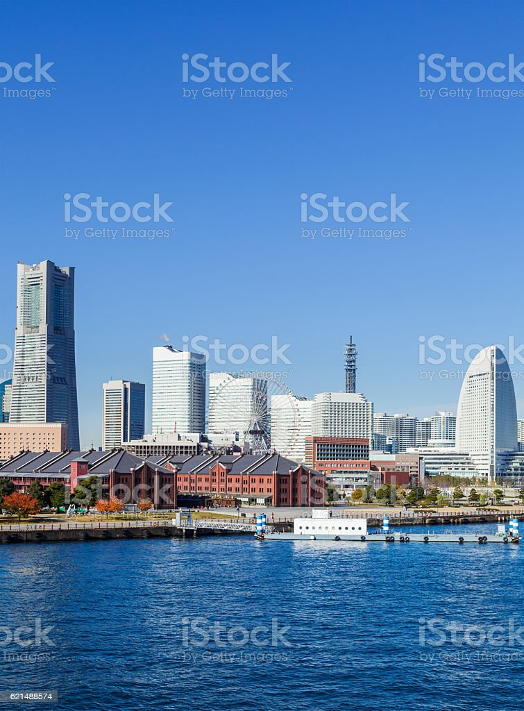 skyline di Yokohama  foto stock royalty-free