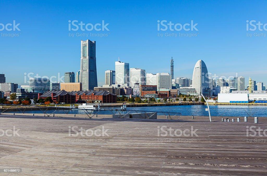 Yokohama die skyline  Lizenzfreies stock-foto
