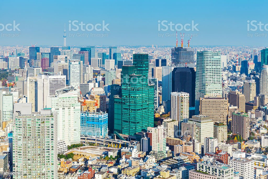 skyline di Yokohama  foto stock royalty-free