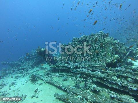 The Wreck of the Yolanda (Jolanda) off Shark Reef in Ras Mohammed National Park near Sharm El Sheikh, Egypt