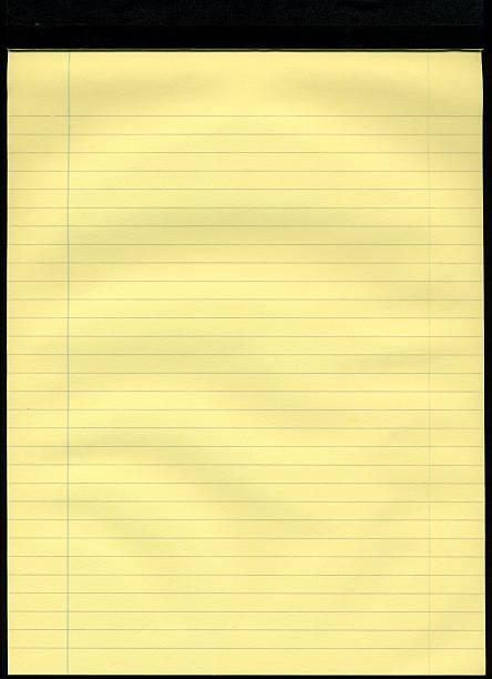 yollow lined notepad - linjerat papper bakgrund bildbanksfoton och bilder