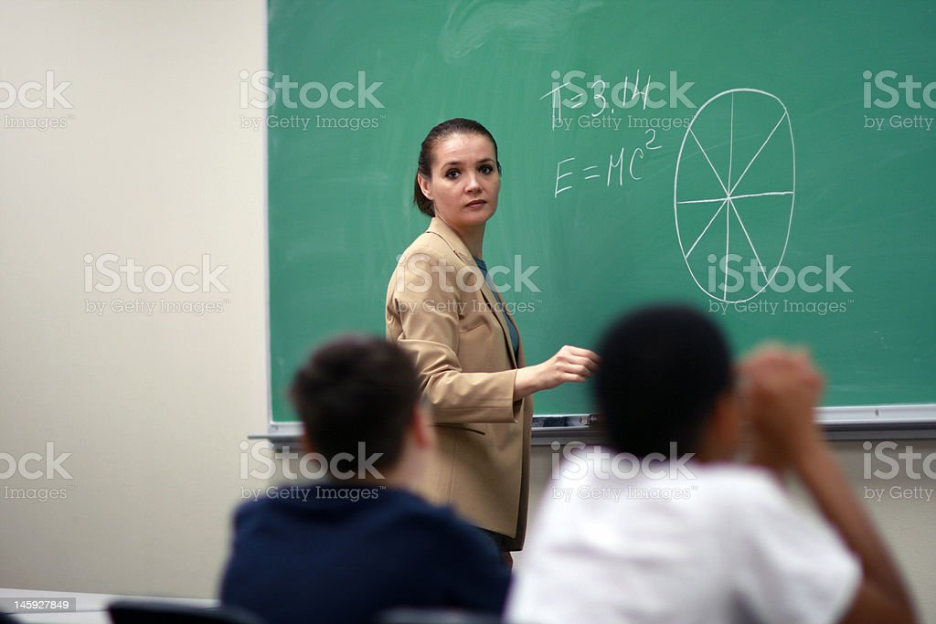 Yong female teacher stock photo