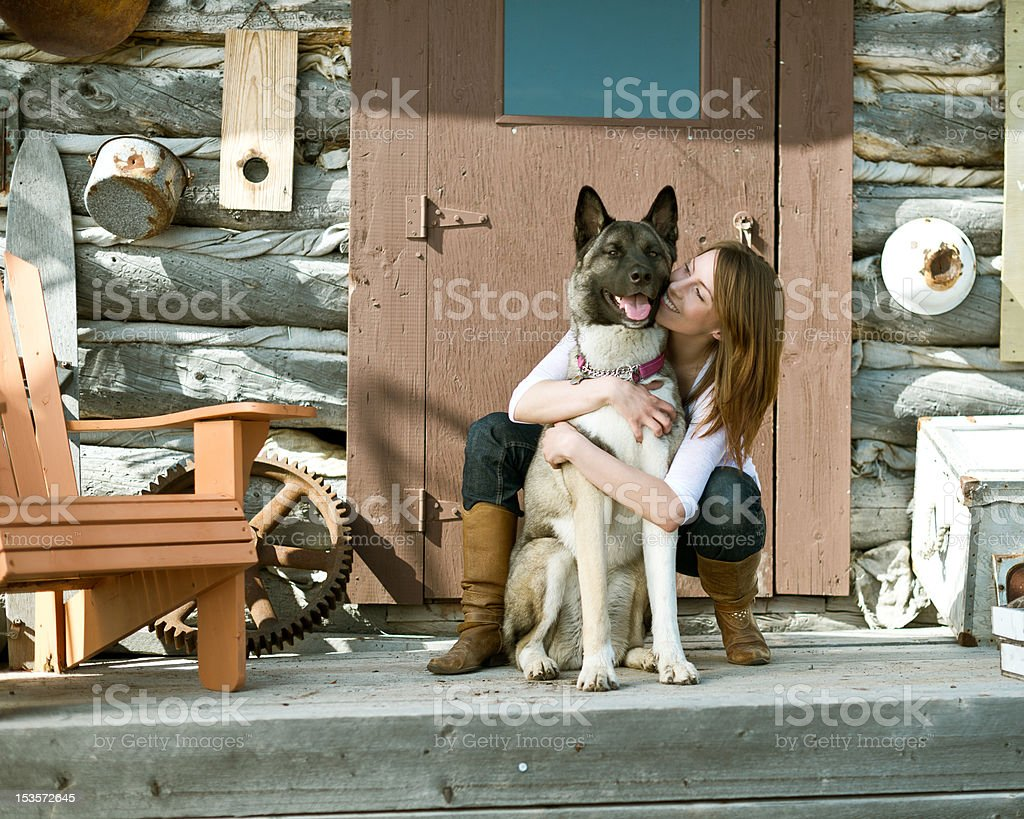 Yong woman with best friend royalty-free stock photo