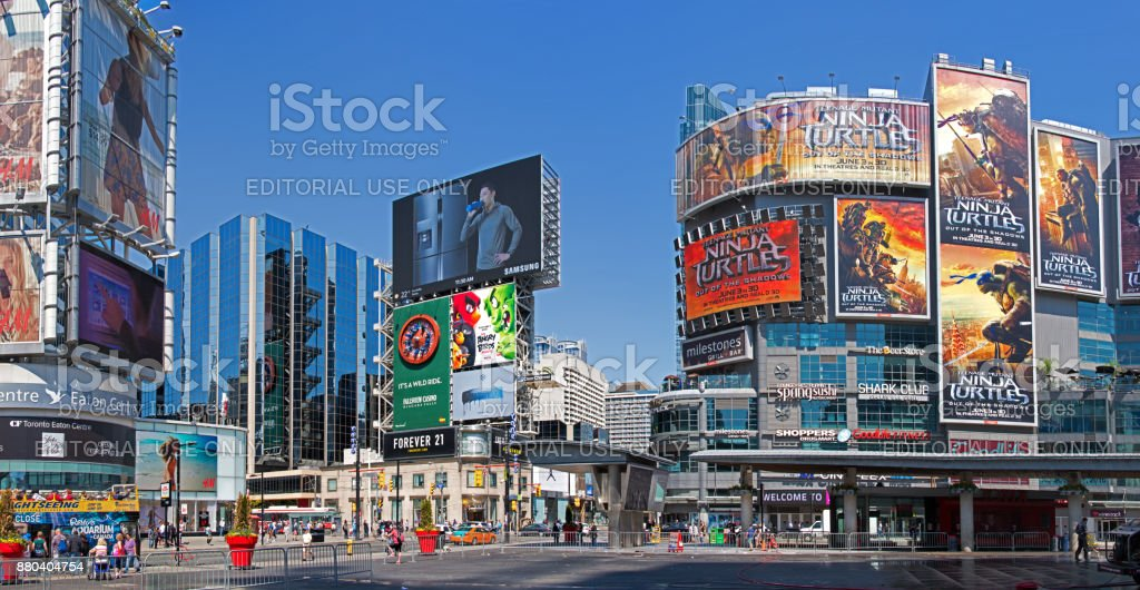 Yonge Dundas Square In Toronto Stock Photo & More Pictures ...
