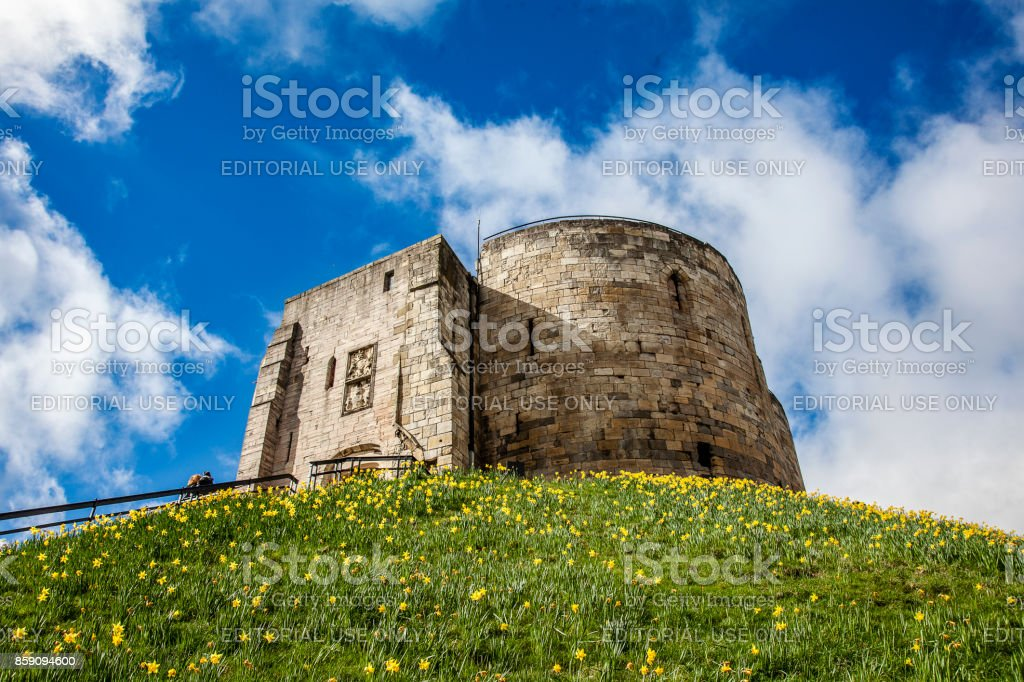 York Castle, Clifford's Tower stock photo