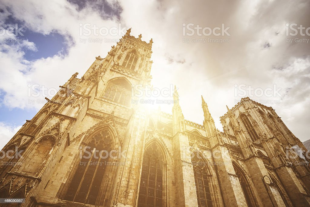 York Church architecture stock photo