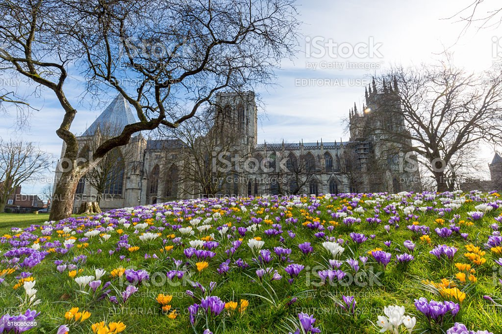 York city Minster architecture in United Kingdom stock photo