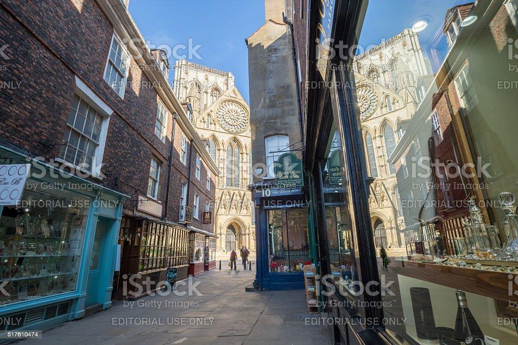 York city street scene in United Kingdom stock photo