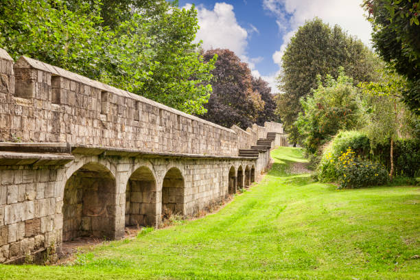 York City Walls, North Yorkshire, England, UK stock photo