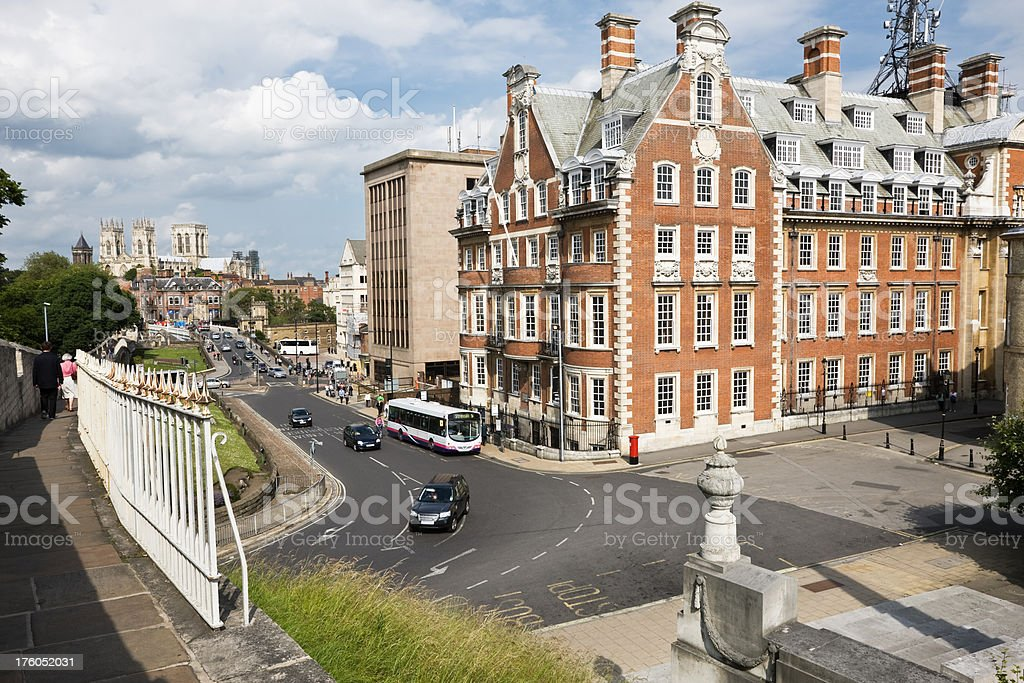 York Cityscape from the Walls royalty-free stock photo