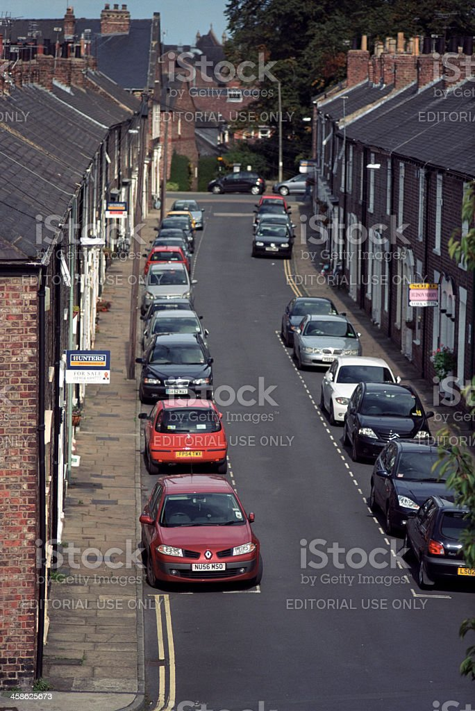 York, England - residential street, as seen from the walls royalty-free stock photo