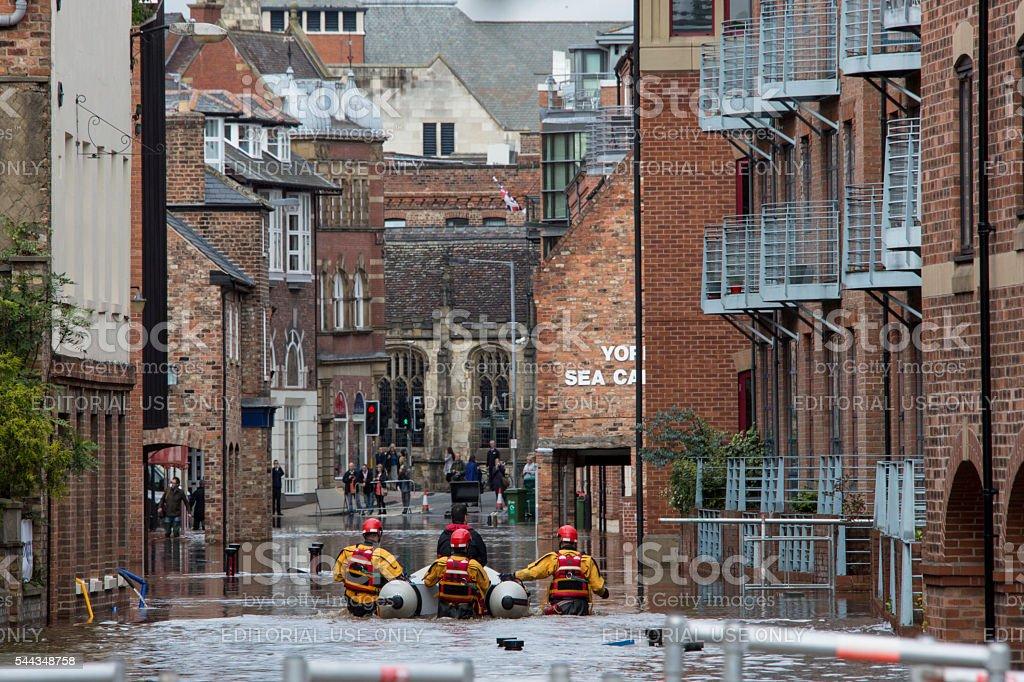 York Floods - September 2012 - UK stock photo