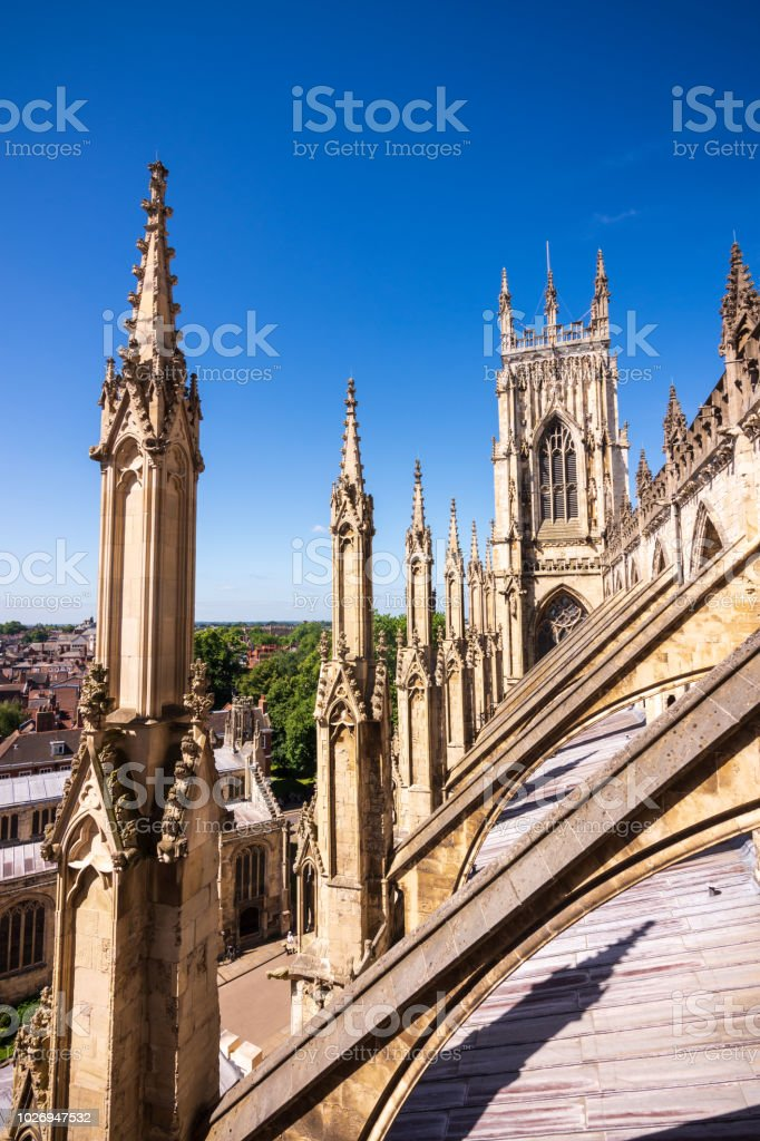 York Minster Cathedral in York, UK royalty-free stock photo