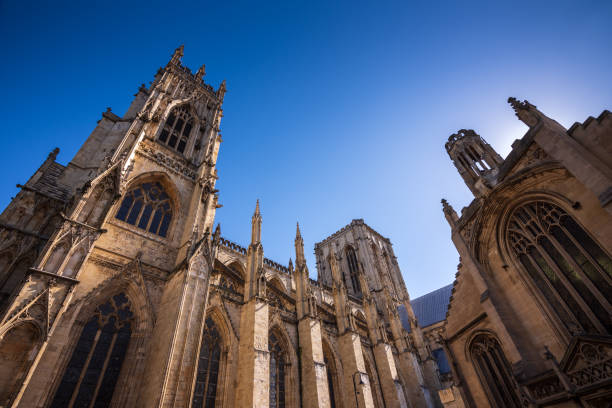 York Minster Cathedral in York, UK stock photo