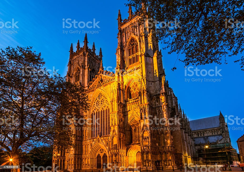 York Minster, cathedral stock photo