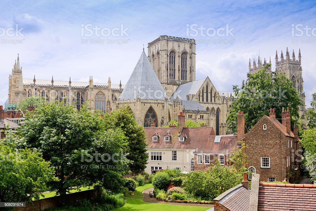 York Minster Cathedral, York, England, UK. stock photo