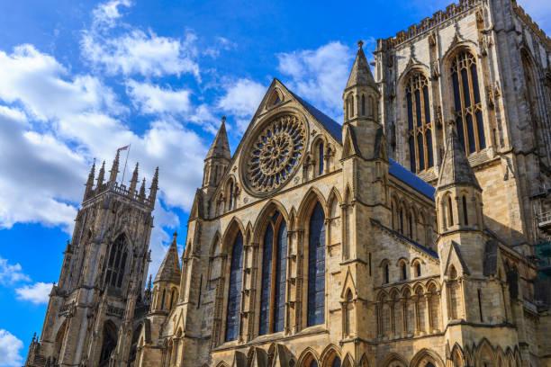 York Minster cathedral, York, UK stock photo