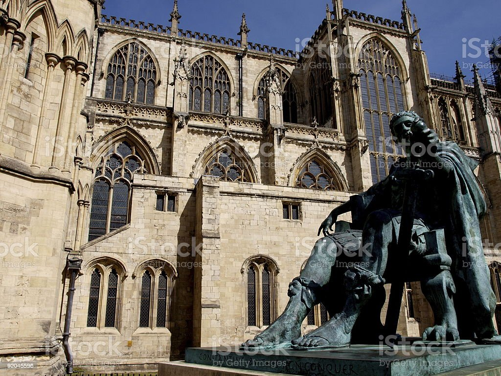 York Minster & Constantine  Ancient Stock Photo