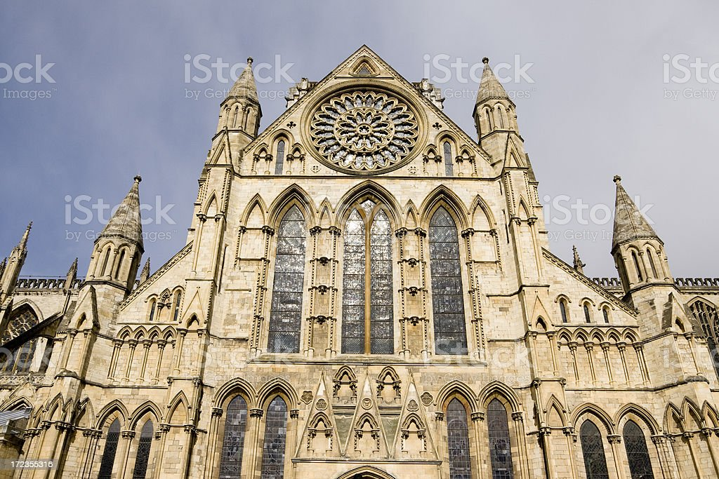 York Minster Gothic Cathedral in York royalty-free stock photo