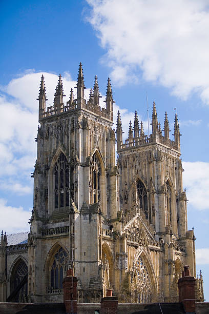 York Minster (England, cathedral, religion) stock photo