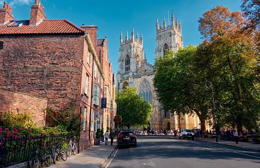 The landscape around city of York and York Minster, United Kingdom