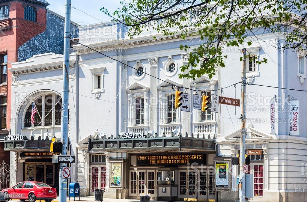 York Strand Capitol Performing Arts Center stock photo