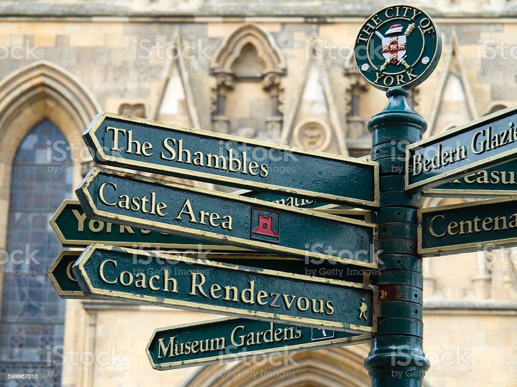 York Street Sign stock photo