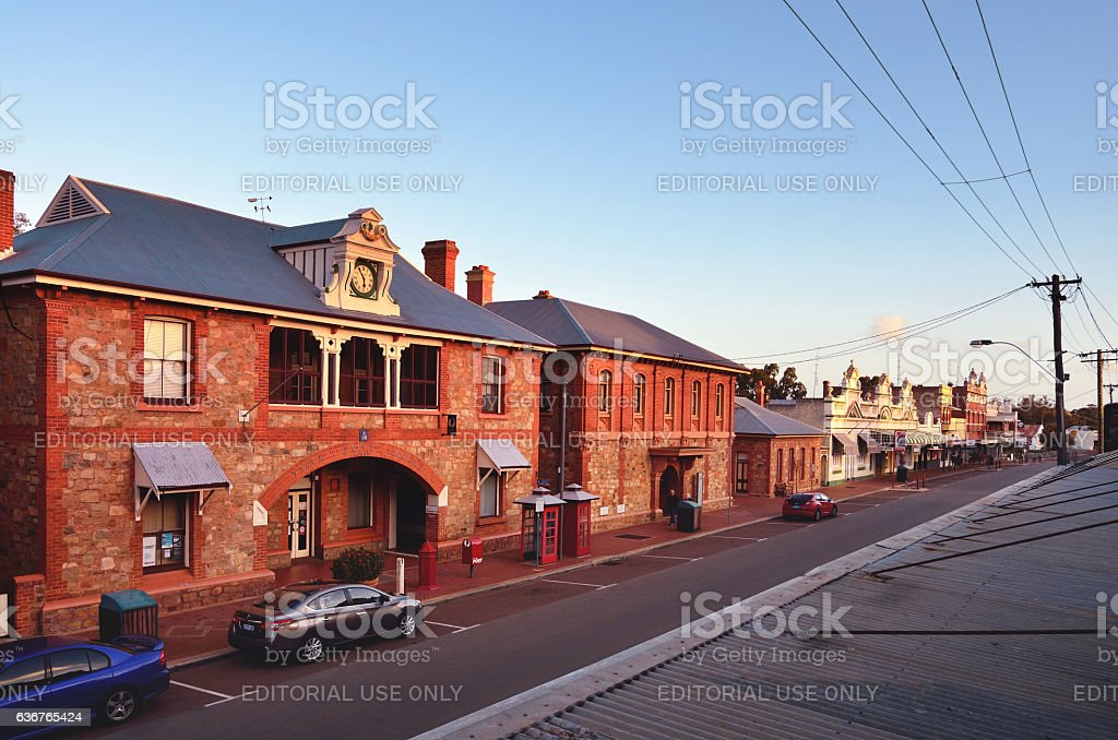 York Town and City Street, Western Australia stock photo