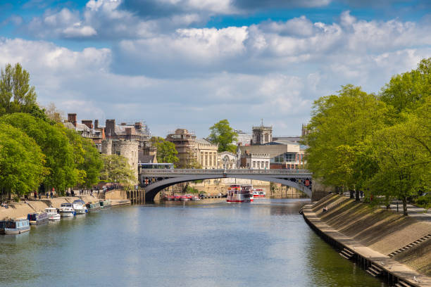 York, UK Bridge over the river Ouse in York, England, UK northeastern england stock pictures, royalty-free photos & images